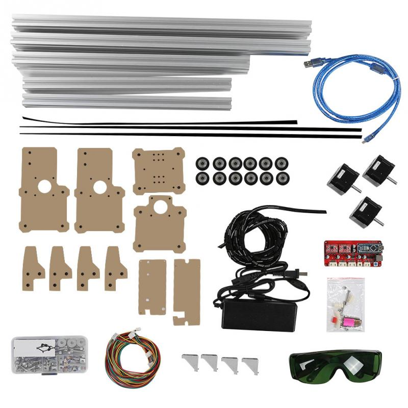Desktop DIY Laser Machine Printer Kit Tools CNC Printer without Laser Head Aluminum Acrylic Material CN