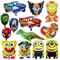 1 unid avengers globos de papel de aluminio super hero baby juguete niños regalo de cumpleaños/partido/de la boda decoración de coches de dibujos animados globos de papel de aluminio suministro