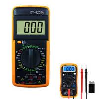 DT9205A ЖК-цифровой мультиметр Multimetro Электрический Амперметр Вольтметр Сопротивление Емкость hFE Вольт Ампер Ом AC/DC тестер зонд