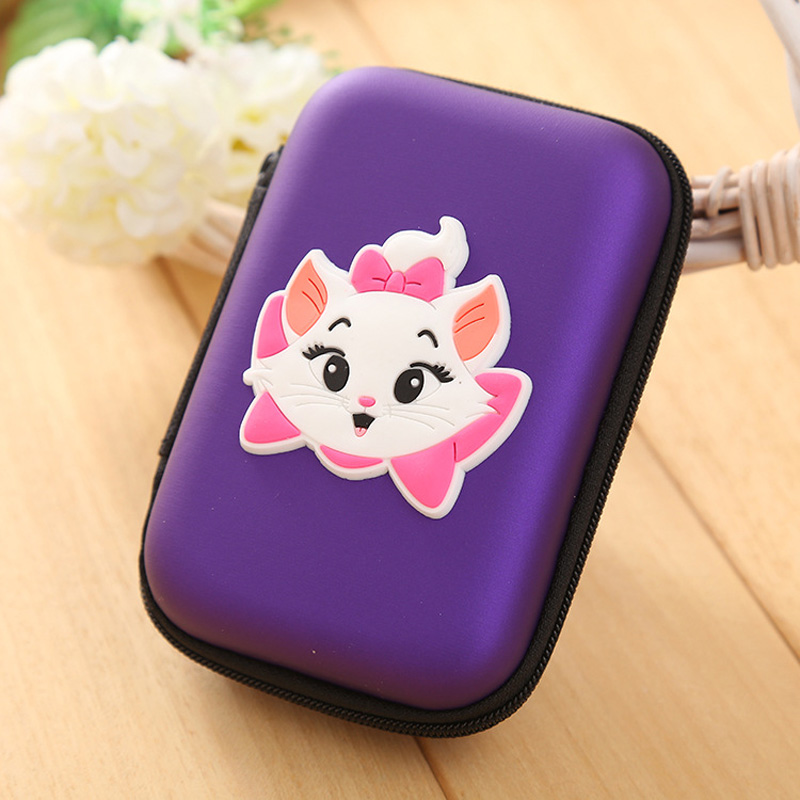 Purple Marie Cat Silicone Coin Purse Rectangle Shaped Cartoon Wallet monederos mujer monedas Gift Young Lady Zipper Coin Box marie cat сумочка marie cat