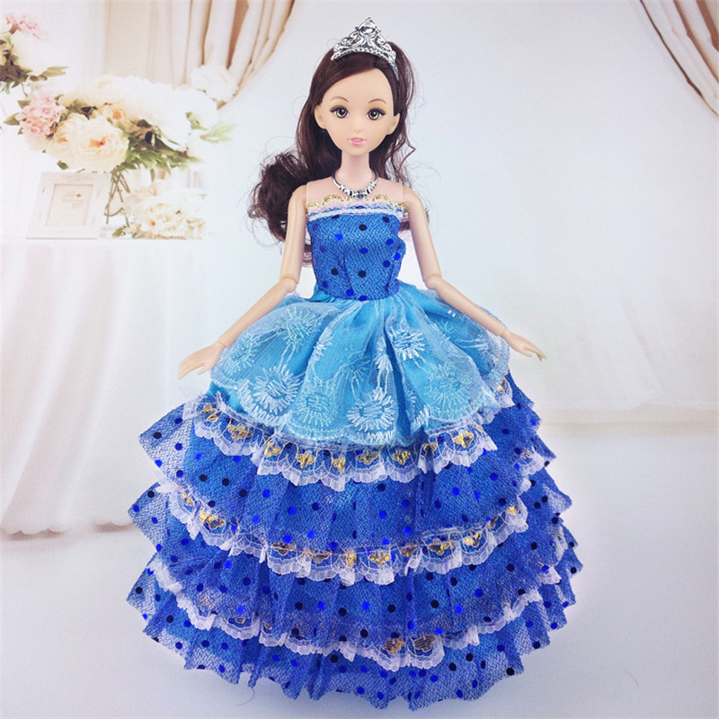 2019 Newest Doll Clothes Fashion Dress Daily Wear Skirt Party Gown Wedding Dress For barbi Doll Accessories Girl Best Gift in Dolls Accessories from Toys Hobbies