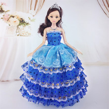 2019 Newest Doll Clothes Fashion Dress Daily Wear Skirt Party Gown Wedding Dress For barbi Doll Accessories Girl Best Gift plastic doll series 3 newest dress up doll with clothes accessories bottle without ball