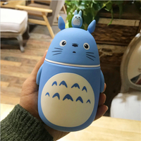 Cartoon Totoro Thermos Cute Water Bottle Vacuum Flask For Tea Coffee Milk Food Stainless Steel Thermo