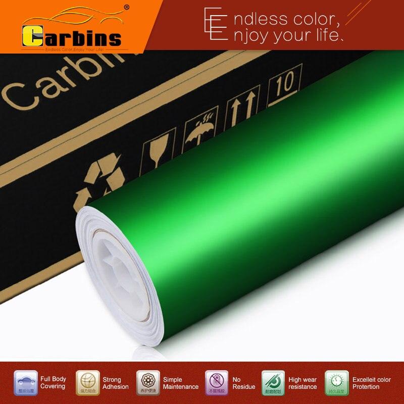 High Quality Green MATTE Chrome Mirror Vinyl Wraps For Car 1 52 20m Size