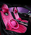 2016 new fashion diamond lady winter pink High Quality Car Seat Covers Universal Fit 5 seats Vehicles seat cushion accessories
