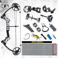 19-70 lbs Archery M1 Compound Bow Set Right Hand IBO320FPS CNC Bow Riser BCY String For Outdoor Hunting Shooting Accessories