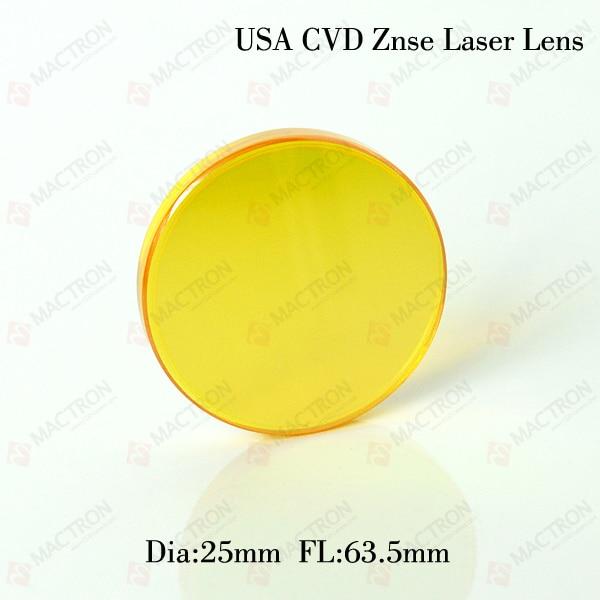 High Qulity!!! Dia 25MM USA Co2 Laser Focus Lens (USA CVD ZnSe Materials,Dia 25mm,FL63.5mm) cvd znse co2 laser focus lens diameter 25 4mm focus length 25 4mm thickness 2mm