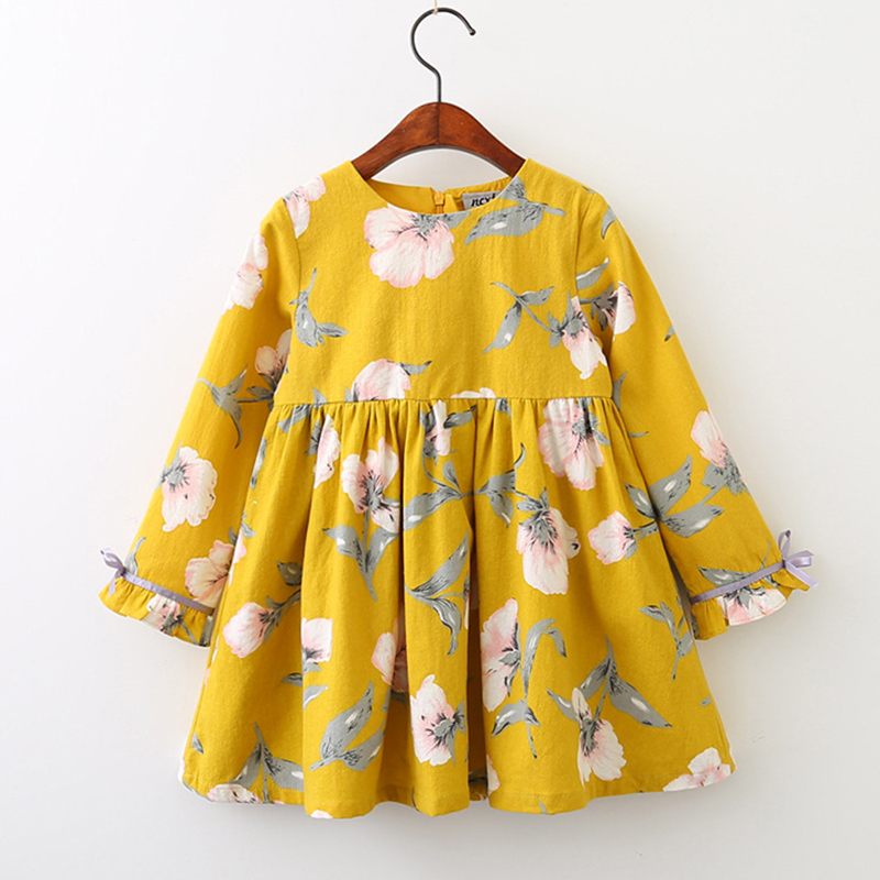 91e13edfa358a Girls Autumn Dress 2019 New British Style Children Plaid Fur Ball ...