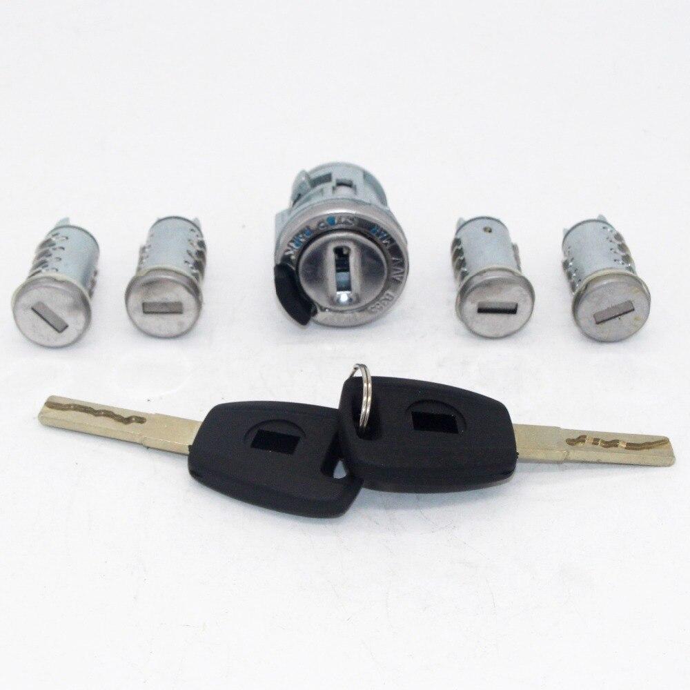 5 قطع مجموعة كاملة الإشعال الباب جذع قفل برميل اسطوانة ل فيات مع SIP22 شفرة مفاتيح