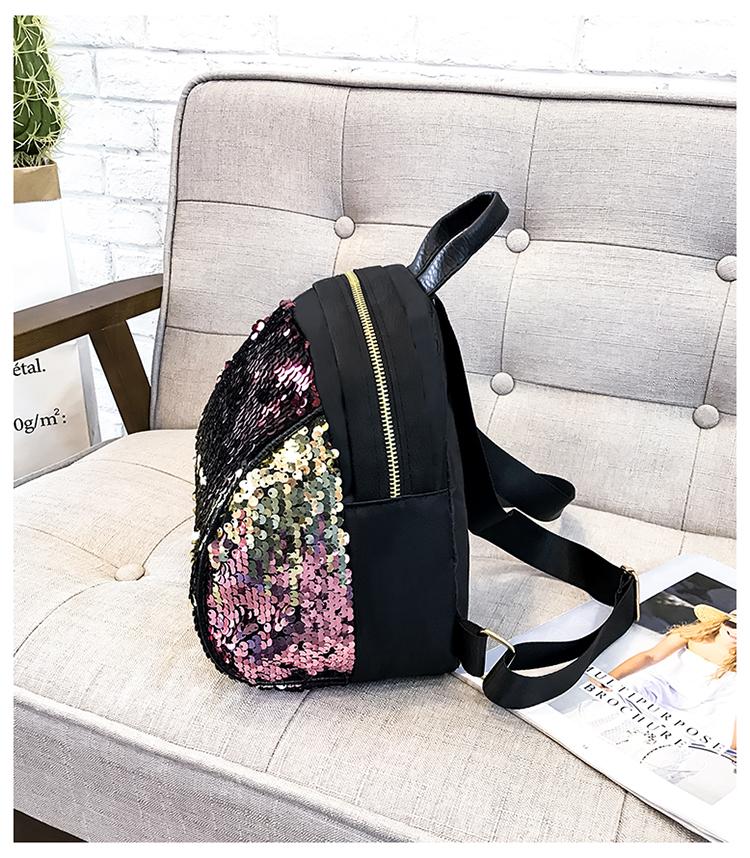 Backpacks women Korean mini 2018 new sequined shell fashion trend women go with small backpacks travel backpack 98