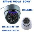 Genuine 1/3 ''sony ccd effio-e 700tvl 24 leds ir interior hd 960 h segurança cctv câmera dome câmera de vigilância frete grátis
