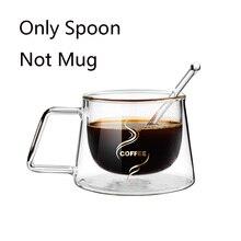 1 шт прозрачная стеклянная кофейная чайная ложка, ложка, посуда, экологически безопасные столовые приборы, подарок