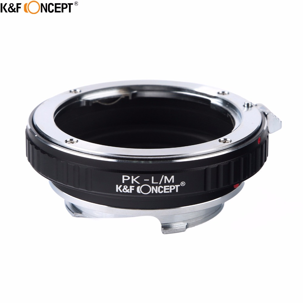 K&F CONCEPT PK-L/M Camera Lens Mount Adapter Ring for Pentax PK Mount Lens to for Leica L/M Lens Camera M8 M9 M9P M-E Type 240 fotga pk eosm pentax pk lens to canon m mount adapter black silver