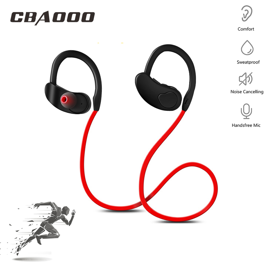 CBAOOO Bluetooth Earphone Headphones Stereo Bass Wireless Headset Sport Bluetooth Earbuds Handsfree With Mic For Android Phone