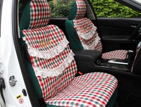 5 Pcs Set 2016 Auto Supply Four Season Women Car Seat Cover Cushion Girls Lace Lovely