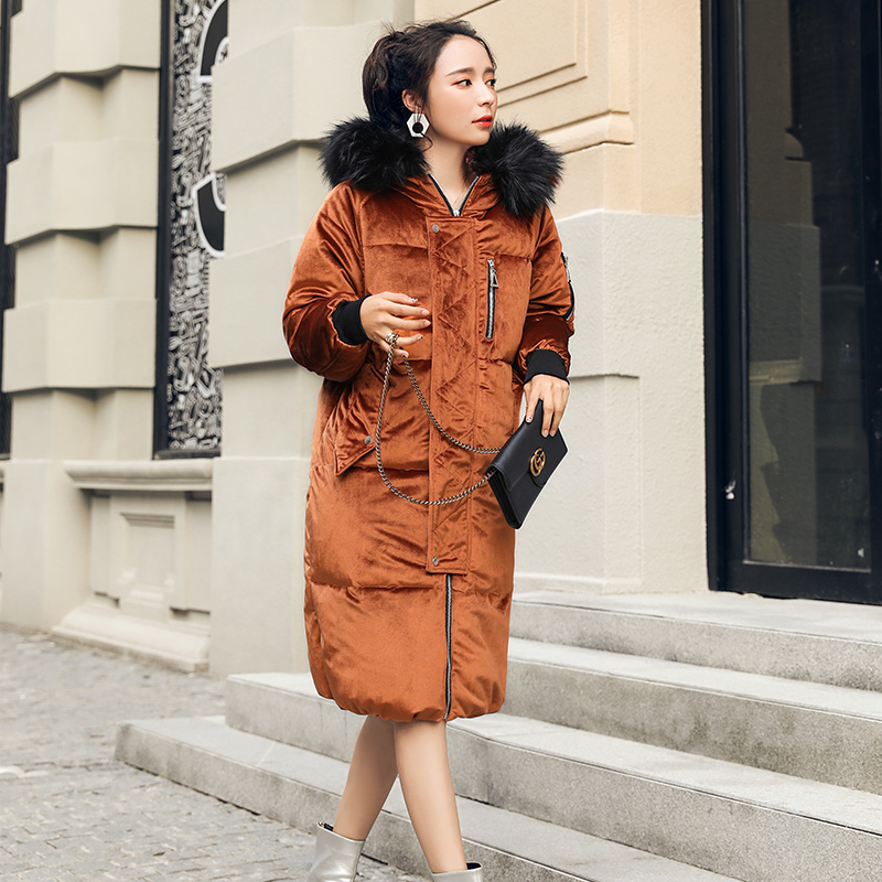 Women Cotton Coat Female Parka Femme Winter Plus Size Women Coats Long Sleeve Hooded Fake Fur Collar Down Wadded Jacket Warm XL winter jacket women large fur collar wadded padded coats jacket female hooded down cotton coat plus size 5xl parka mujer c2623