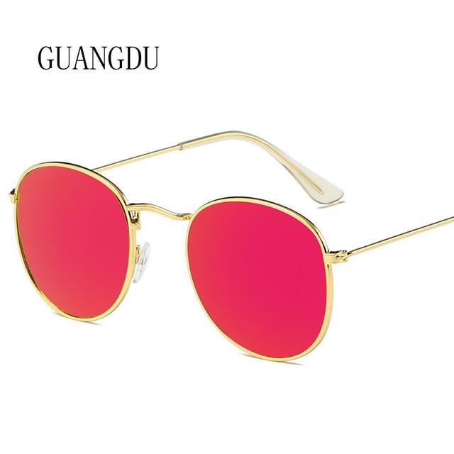 7fda3f609b40 2018 Hot Sale BJMSGS Vintage Round Sunglasses Retro Glasses Frame Women  Mirror Brand Designer Sunglasses Metal Lady Circle