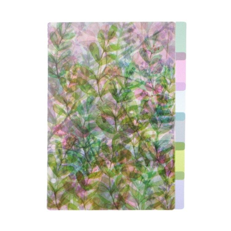A5 A6 A7 рисунками из мультфильмов прозрачный разделитель индекс страниц доска для сортировки по цвету для детей возрастом от 6 отверстия связующего - Цвет: A 5
