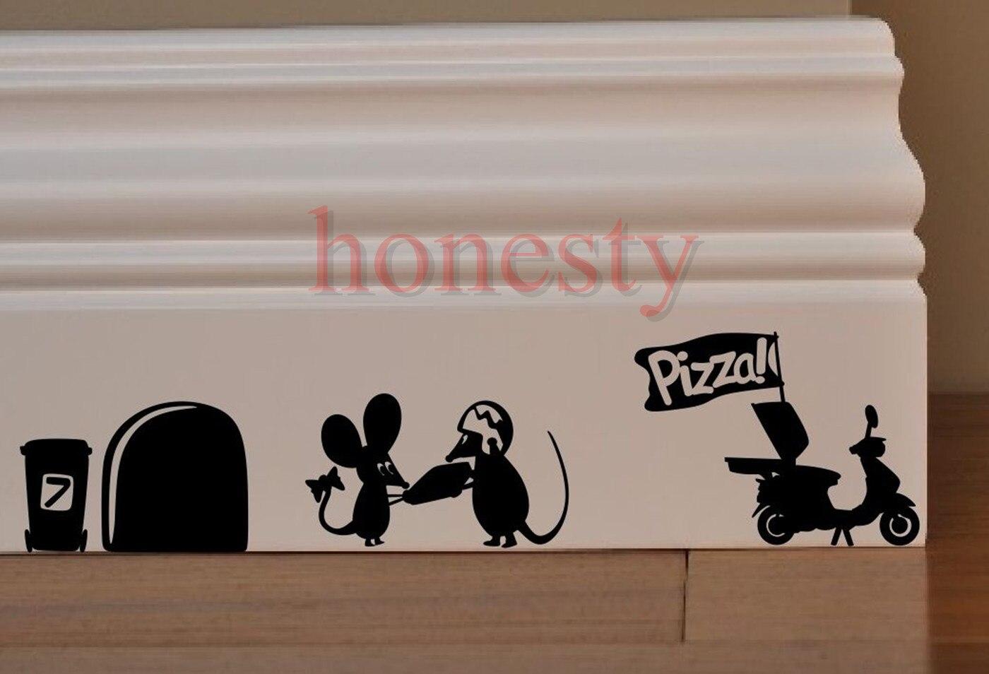 Funny Mouse Mice Rat Cave Door Car Wall Window Decor Sticker Halloween Gift