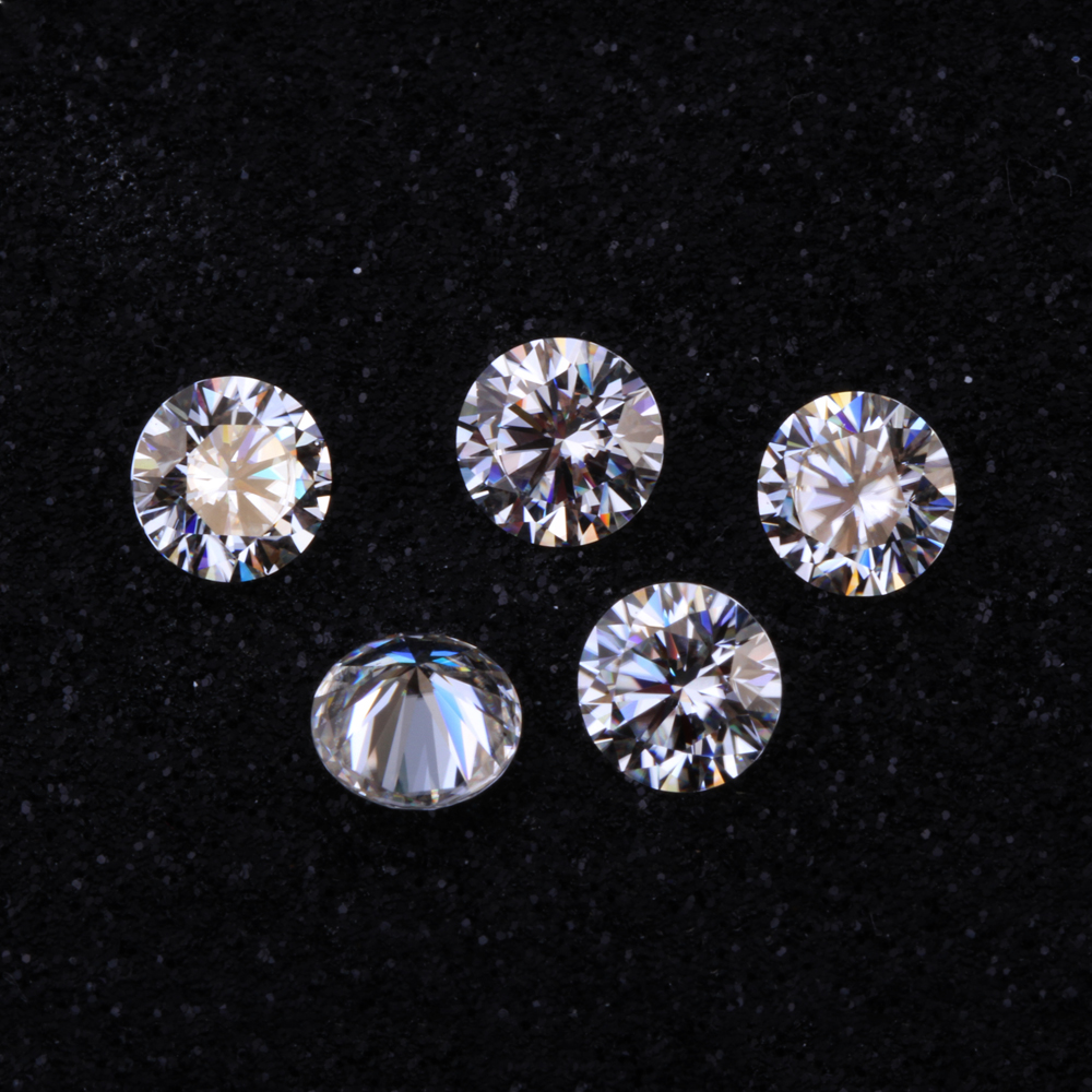 Wholesale Loose Moissanites Test as real 3ct 9mm Round Brilliant Cut CHARLES COLVARD Genuine Moissanite stone