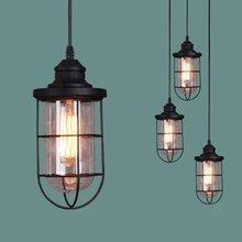 Lámpara colgante de cristal con forma de bala creativa, lámpara colgante E27 para almacén, cafetería, Bar, granja