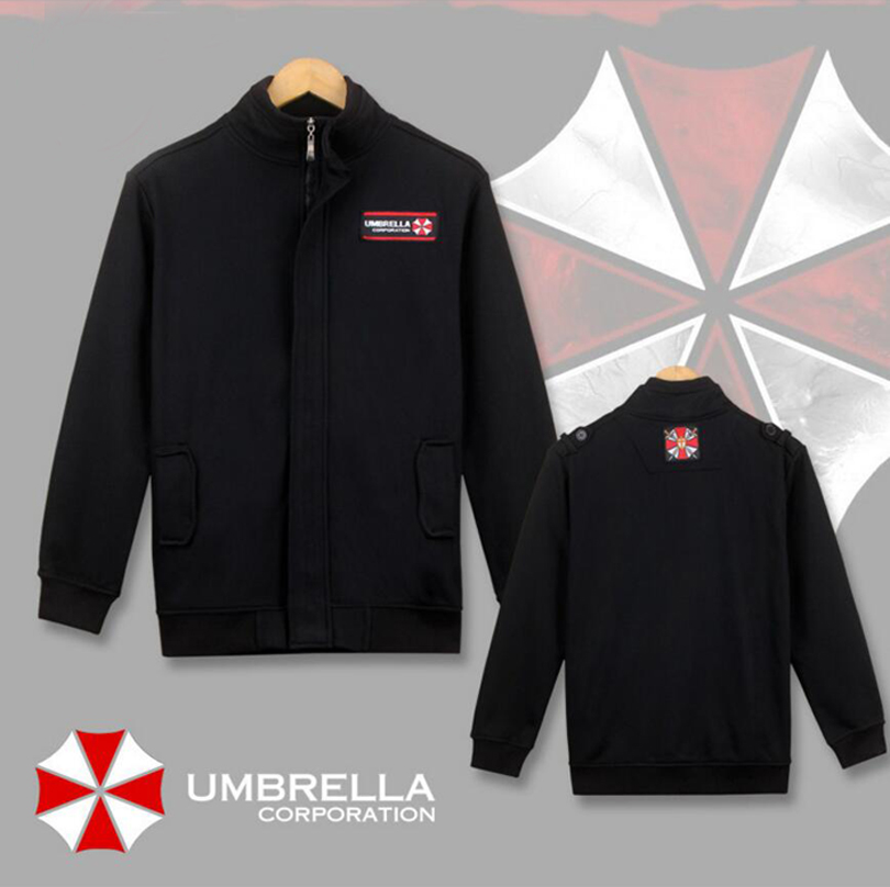 Resident Evil Jacket Cosplay Costume Biohazard Umbrella Corporation Logo Outerwear Daily Casual Coat
