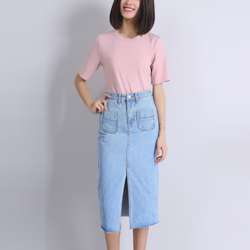 Popular Denim Midi Skirt-Buy Cheap Denim Midi Skirt lots from ...