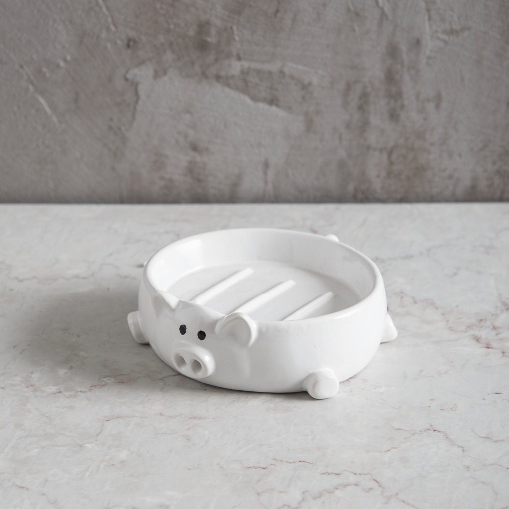 Pig bathroom accessories - Online Shop Ceramic Bathroom Soap Dish In Pig Shaped Bath Accessories Ceramic Soap Plate Bathroom Accessories Aliexpress Mobile