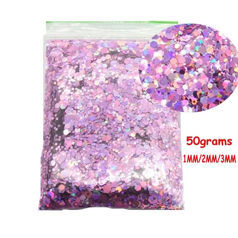 1,76 Unzen Feine Sparkle Glitter Für Festival Make-up Gemischt 1,2 3 Mm, 25 Farben Kosmetische Grade Körper & Gesicht & Nagel Glitter Pailletten 50g