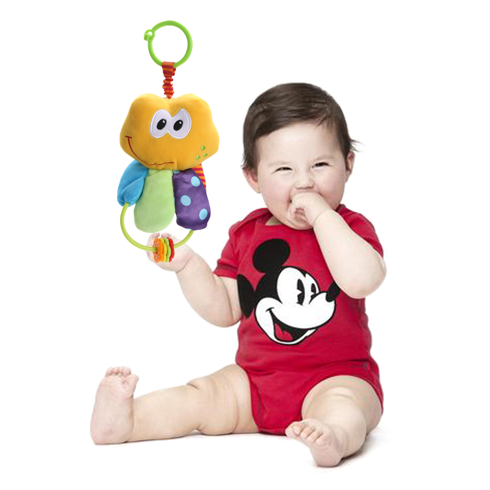 Baby Crib Stroller Plush Toy Baby Infant Toddles Cute Plush Animal Handbell Doll Teether Soft Baby Kids Educational Gift