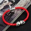 New Men bracelets bracciale pulsera hombre skull bracelet mens bracelet bijoux Wrap simple bracelet pulseiras de couro jewelry
