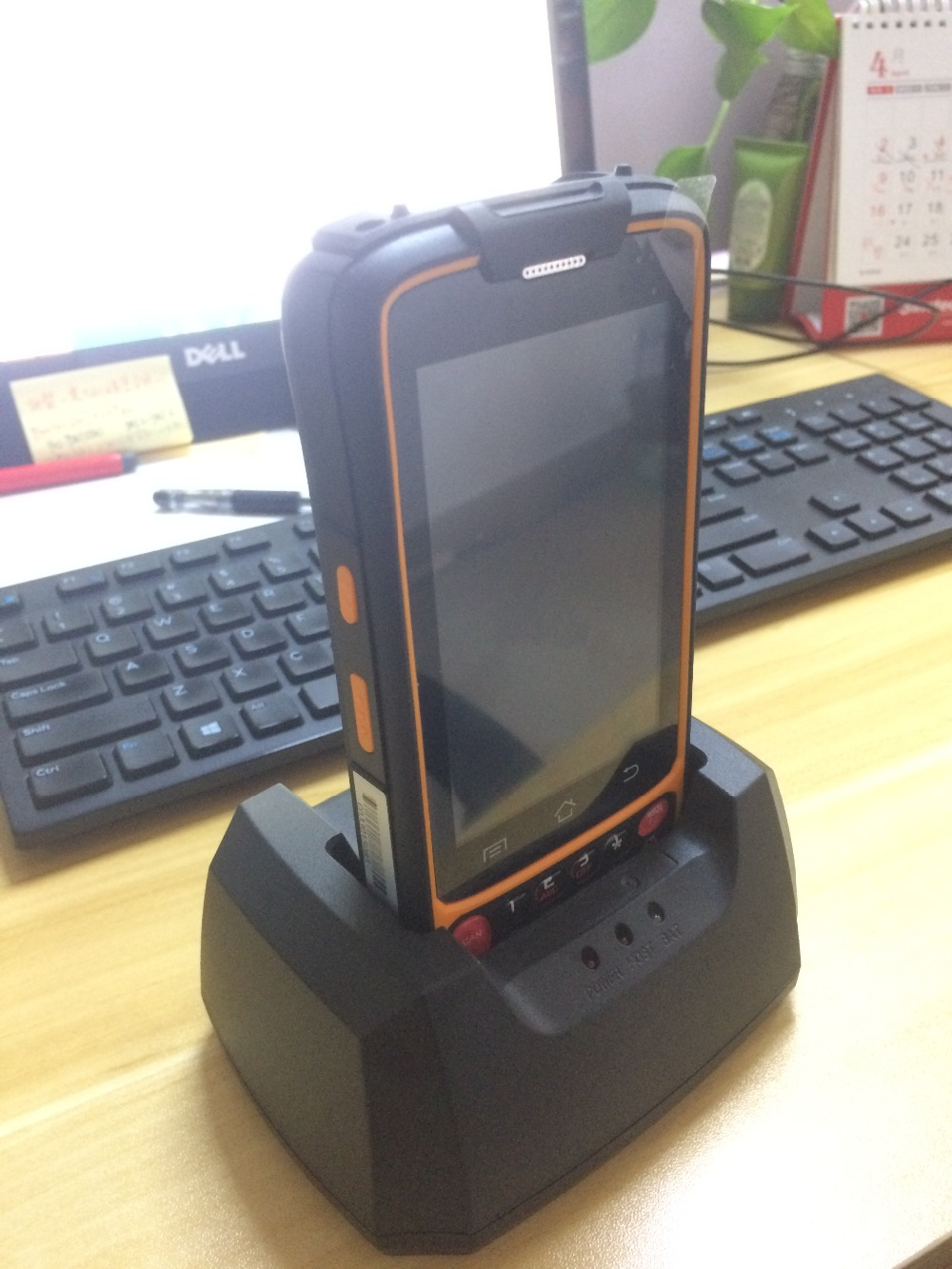 Handheld Data Collection PDA Terminal 4G Android Mobile 1D / 2D Barcode Scanner QR Code Reader with LF 125K / 134.5K RFID reader