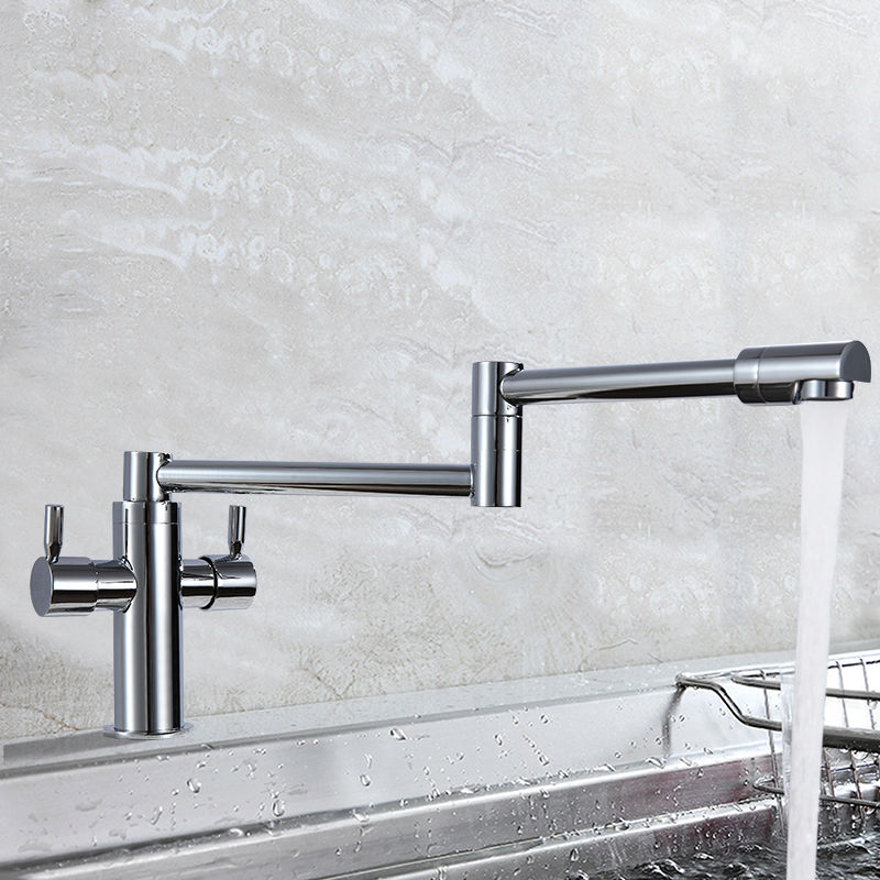 High Quality Kitchen Faucets Deck Mounted Folding Tap Brass Chrome Hot/ cold High Quality Kitchen Faucets Deck Mounted Folding Tap Brass Chrome Hot/ cold