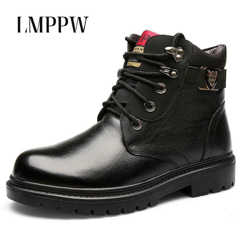 Genuine Leather Handmade Men Winter Snow Boots Wool Super Warm Men Rubber Ankle Boots Fashion Brand Man Leather Snow Boots Black brand men boots fashion hot bullock shoes handmade warm genuine leather winter boots men casual british style ankle snow boots
