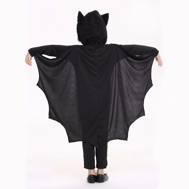 2019 Děti Dívky Bat kostýmy Cospla yParty Karneval Halloween kostýmy pro děti Black Bat Onesies Connect Wings Batman Clothes