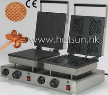 Dual Waffle Baking System 110v 220v Electric Commercial Butterfly on A Stick and Waffle Maker