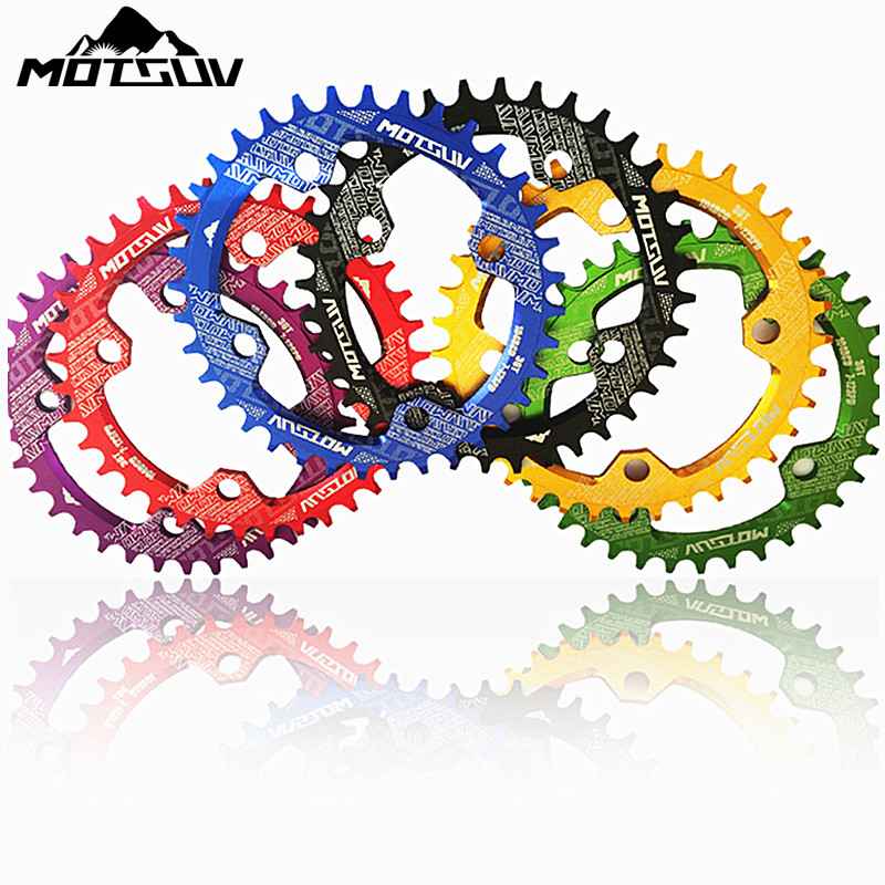 Bicycle Crank 104BCD Round Shape Narrow Wide 32T/34T/36T/38T MTB Chainring Bicycle Chainwheel Bike Circle Crankset Single Plate motsuv bicycle crank 104bcd oval 32t 34t 36t 38t chainring narrow wide ultralight mtb bike chainwheel circle crankset plate