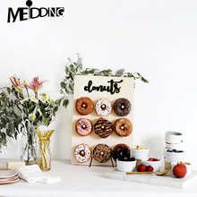 Wooden Wall Holds Donut Boards Stand Hanging Donuts Table Wedding Decoration Accessories Baby Shower Kids Birthday Party Decor