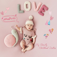 Tiny Baby Girl Birthday Picture Photo Shoot Wool Outfits Clothes Infant Girl Photography Props bebe Fotografia Accessories цена 2017