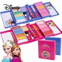 2018 Disney Children's Cosmetics Princess Makeup Box Set Frozen Girl Safety Toy Party Pretend Play Princess Toy Birthday Gift