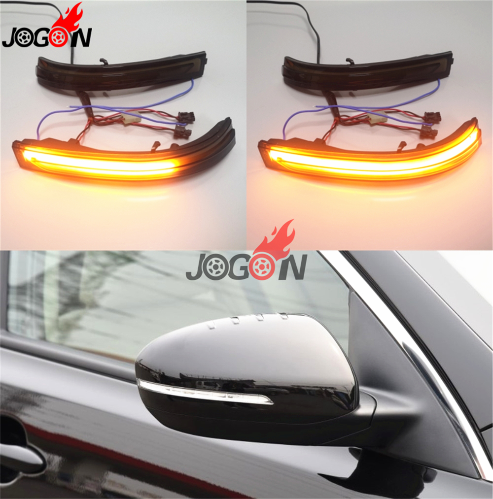 For Kia Optima K5 TF 2011 2015 Car LED Sequential Light Dynamic Turn Signal Mirror Blinker Indicator Lamp
