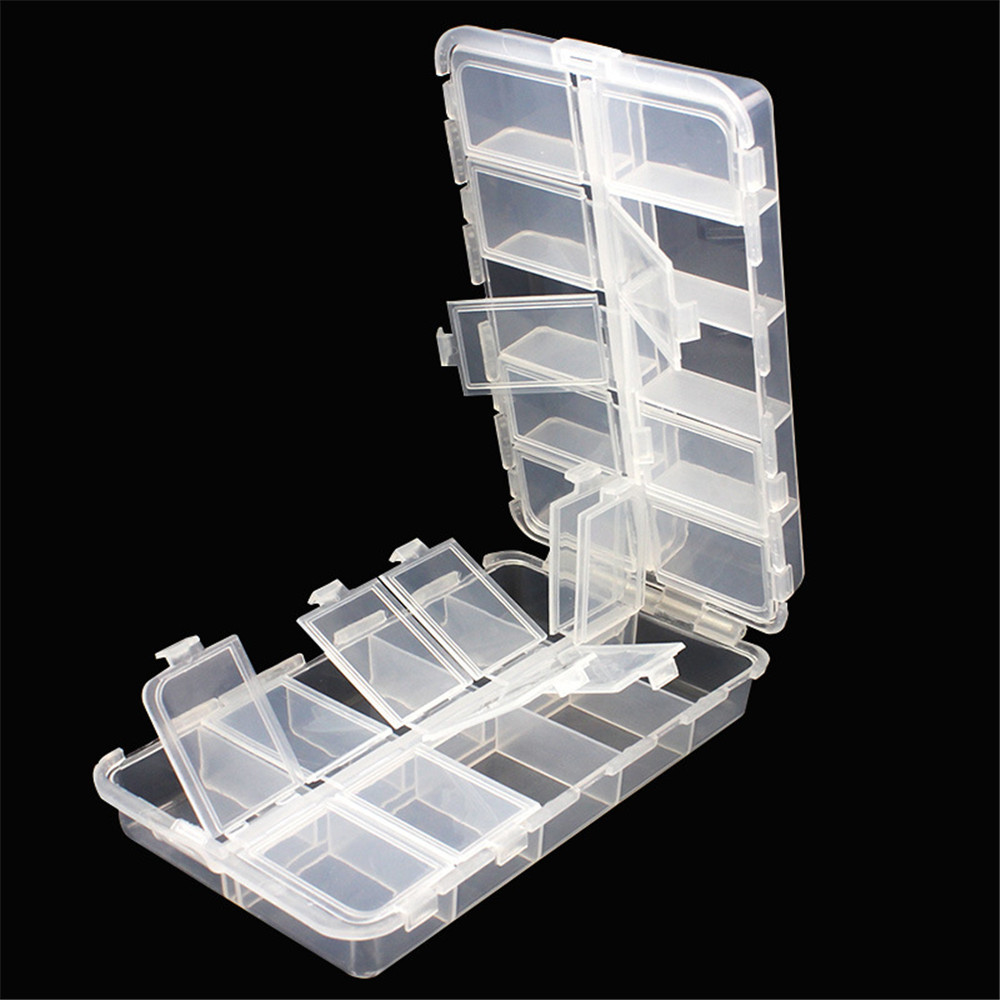 Box Storage-Boxes Bait-Organizer Fishing-Lures-Case Fisher-Gear 20-Compartments New Bulk title=