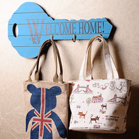 Fashion Key Shape Wooden Wall Hanger Vintage Style Coat & Hat Hook Mixed Color Home Deocration Hot Selling!