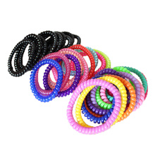 5Pcs Telephone Wire Elastic Hair Bands Women Rubber Hair Band Girls Haar Accessories