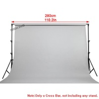 2.8m / 9.2ft Background Cross Bar Photography Photo Studio Vedio Background Backdrops Support Crossbar for Light Stand Tripod