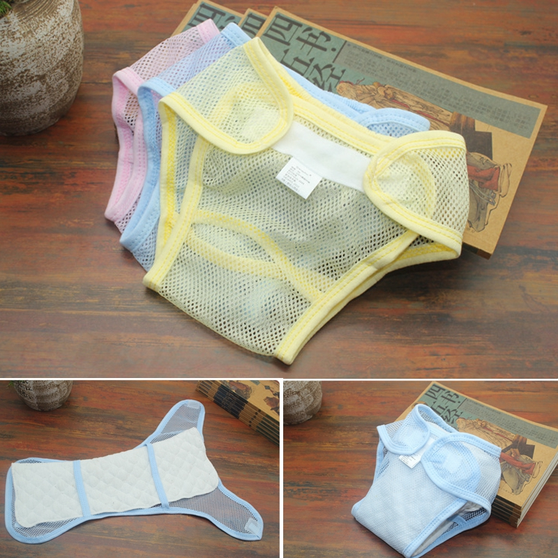 1 PC Free Breathe Mesh Newborn Baby Pocket Washable Cloth Diapers Baby Diaper Cloth Toddler Reusable Nappy Covers Diaper Panties