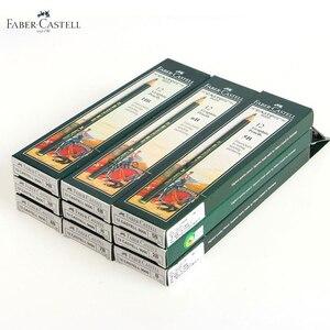 Image 3 - Faber castell 12 Pcs מותג (6H 8B) סקיצה ציור עיפרון אישית סטנדרטי עפרונות שחור ציור עיפרון