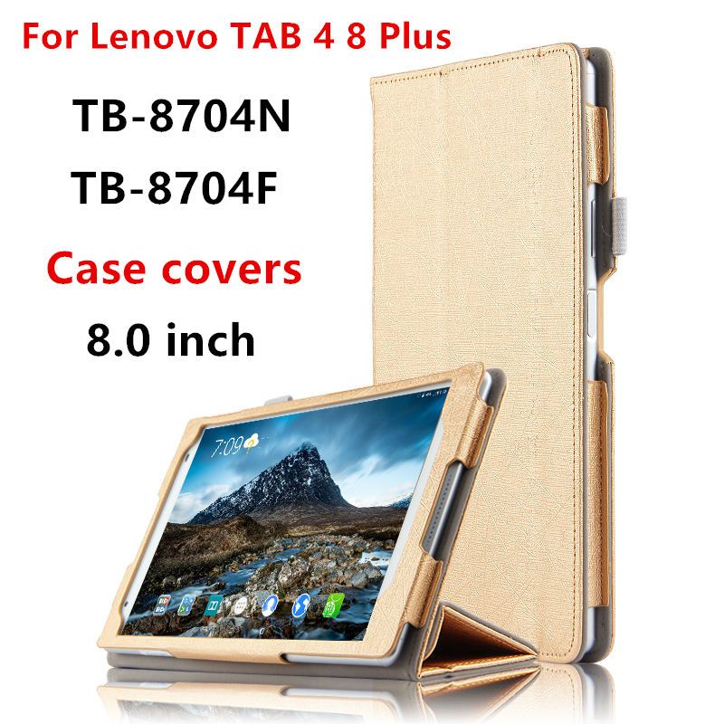 HUWEI Case For Lenovo TAB 4 8 Plus Protective Smart cover Leather Tab4 8 plus 8.0 TB-8704F N Tablet Cases PU Protector Covers magnetic stand smart pu leather cover for lenovo tab 4 8 tb 8504f 8504n 8 0 tablet funda case free screen protector stylus pen
