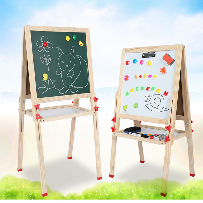 Children paiting board children's drawing board double side magnetic bracket home teaching blackboard baby graffiti board