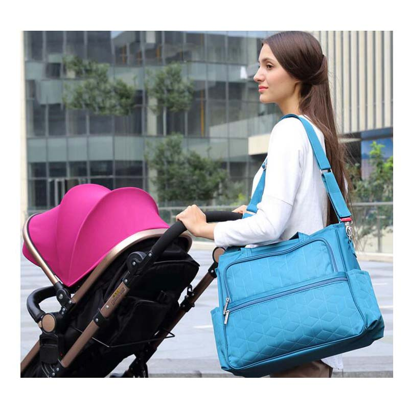 Nylon waterproof mother bag multi function large capacity pregnant women waiting for a package shoulder slanting diaper bag baby in Diaper Bags from Mother Kids